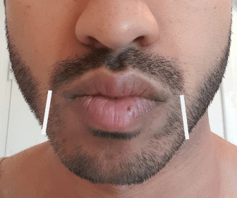 stubble goatee outline